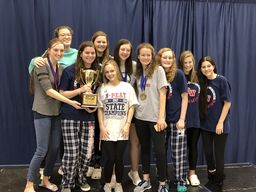Varsity Girls Swim Team Wins State for 4th Year